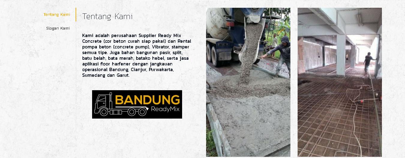 jasa cor beton bandung Beton Readymix Di Bandung